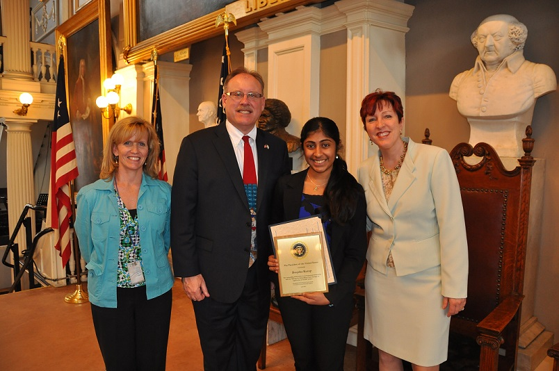 Receiving the PEYA Award in Boston's Faneuil Hall